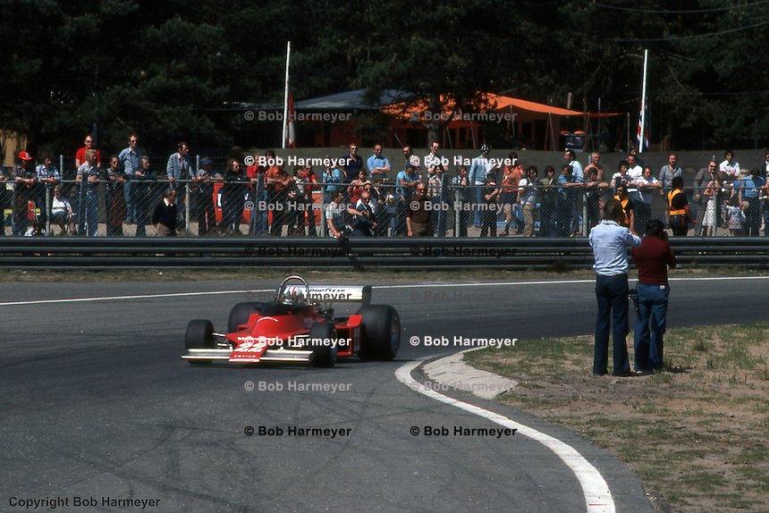 HEUSDEN-ZOLDER - MAY 16: Chris Amon drives the Ensign N176 MN-05/Ford Cosworth during practice for the Grand Prix of Belgium on May 16, 1976, at Circuit Zolder near Heusden-Zolder, Belgium.