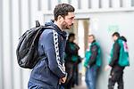 05.10.2019, Benteler Arena, Paderborn, GER, 1.FBL, SC Paderborn 07 vs 1. FSV Mainz 05<br /> <br /> DFL REGULATIONS PROHIBIT ANY USE OF PHOTOGRAPHS AS IMAGE SEQUENCES AND/OR QUASI-VIDEO.<br /> <br /> im Bild / picture shows<br /> Sandro Schwarz (Trainer 1. FSV Mainz 05) bei Ankunft am Stadion, <br /> Schwarz ist der erste Bundesliga-Trainer, der nach dem neuen Regelwerk aufgrund einer Gelb-Roten Karte, nicht auf der Bank sitzen darf.<br /> <br /> Foto © nordphoto / Ewert