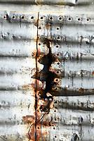 Rusty Corrugated Metal Siding