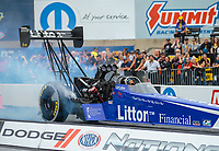 Sep 14, 2018; Mohnton, PA, USA; NHRA top fuel driver Bill Litton during qualifying for the Dodge Nationals at Maple Grove Raceway. Mandatory Credit: Mark J. Rebilas-USA TODAY Sports