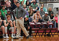 NWA Democrat-Gazette/J.T. WAMPLER Valley Springs' coach Blake Hanney against Huntsville Jan. 8, 2019.