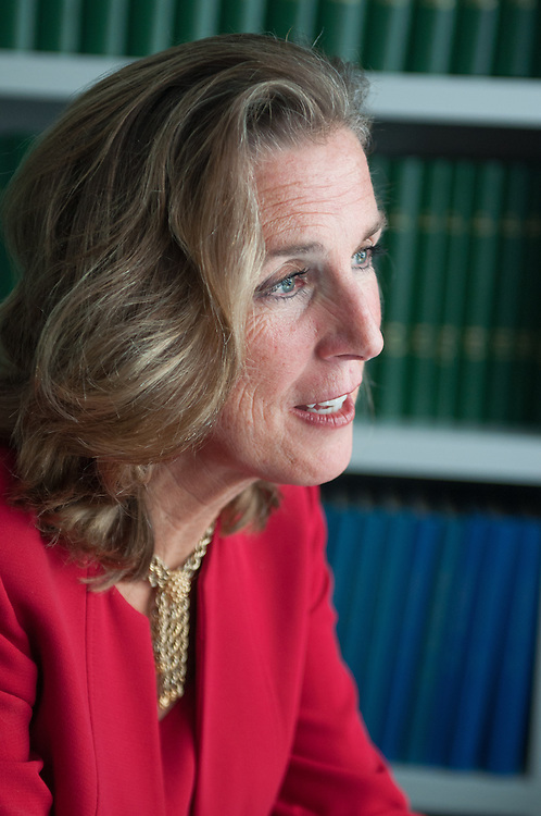 """UNITED STATES - JANUARY 26: Kathleen """"Katie"""" McGinty, Democrat candidate for Pennsylvania Senate, is interviewed in the Roll Call offices on January 26, 2016. (Meredith Dake-O'Connor/CQ Roll Call)"""