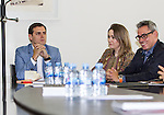 The president of Ciudadanos , Albert Rivera, meets at the Film Academy with representatives of the Spanish industry of animation , visual effects and video games.May 31,2016. (ALTERPHOTOS/Rodrigo Jimenez)