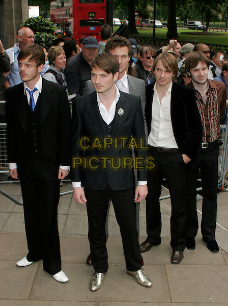 THE FEELING - RICHARD JONES, DAN GILLESPIE SELLS, PAUL STEWART,KEVIN JEREMIAH & CLARAN JEREMIAH.Arrivals at the Ivor Novello Awards, Grosvenor House, London, England..May 24th, 2007.full length black suit band grey gray.CAP/AH.©Adam Houghton/Capital Pictures