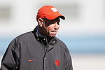 20 November 2016: Clemson head coach Eddie Radwanski. The University of North Carolina Tar Heels played the Clemson University Tigers at Fetzer Field in Chapel Hill, North Carolina in a 2016 NCAA Division I Women's Soccer Tournament Third Round match. UNC won the game 1-0.