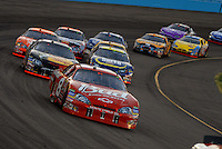 Apr 22, 2006; Phoenix, AZ, USA; Nascar Nextel Cup driver Dale Earnhardt Jr. of the (8) Budweiser Chevrolet Monte Carlo leads a pack of cars during the Subway Fresh 500 at Phoenix International Raceway. Mandatory Credit: Mark J. Rebilas-US PRESSWIRE Copyright © 2006 Mark J. Rebilas..