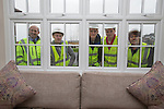 Redrow Homes<br /> Apprentices visiting the Mon Bank development in Newport, Tom Jones, Malcolm Thomas &amp; Callum Davies with Petra Foley and Mike Knight from Redrow Homes.<br /> <br /> 06.03.14<br /> <br /> &copy;Steve Pope-FOTOWALES