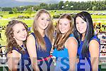 Laura McGillicuddy Gneeveguilla, Niamh McSweeney Kilcummin, Joan Brosnan Gneeveguilla and Kelly O'Sullivan Kilcummin  at the Killarney Races on Saturday