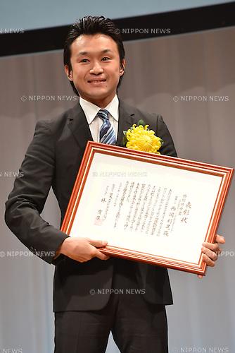 Toshiaki Nishioka,.JANUARY 25, 2013 - Boxing :.Japan's Boxer of the Year Award 2012 at Tokyo Dome Hotel in Tokyo, Japan. (Photo by Hiroaki Yamaguchi/AFLO)