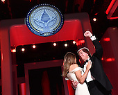 United States President Donald Trump and First Lady Melania Trump dance at the Liberty Ball on January 20, 2017 in Washington, D.C. Trump will attend a series of balls to cap his Inauguration day.    <br /> Credit: Kevin Dietsch / Pool via CNP