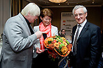 "BRUSSELS - BELGIUM - 24 March 2015 -- BOGK - German Association of the Fruit, Vegetable and Potato Processing Industry - Award ceremony ""Ambassador of Good Taste"". -- (from left) Konnrad LINKENHEIL, President of BOGK; award receiver MEP Renate SOMMER, Group of the European People's Party (Christian Democrats - Germany) and MEP Albert DESS, Group of the European People's Party (Christian Democrats - Germany).  -- Photo: Juha ROININEN / EUP-IMAGES"