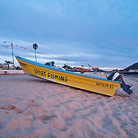 Fishing boat on beach, San Felipe, Baja California, Mexico