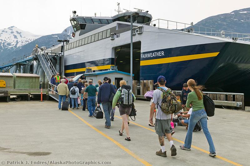 The Fairweather Fast Ferry, brought on line with Alaska Marine Ferry Fleet in June of 2004. Skagway, Alaska