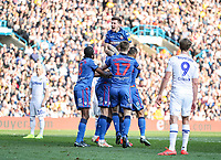 Bolton Wanderers' Joe Williams celebrates with his team mates after a goal scored by Mark Beevers <br /> <br /> Photographer Andrew Kearns/CameraSport<br /> <br /> The EFL Sky Bet Championship - Leeds United v Bolton Wanderers - Saturday 23rd February 2019 - Elland Road - Leeds<br /> <br /> World Copyright © 2019 CameraSport. All rights reserved. 43 Linden Ave. Countesthorpe. Leicester. England. LE8 5PG - Tel: +44 (0) 116 277 4147 - admin@camerasport.com - www.camerasport.com