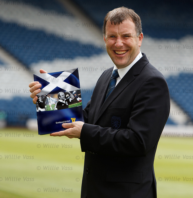 SFA Chief Exec Stewart Regan all smiles at Hampden after the AGM voted to reform and modernise the association