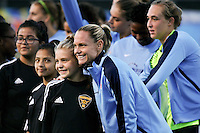 Piscataway, NJ - Sunday Sept. 25, 2016: Christie Rampone prior to a regular season National Women's Soccer League (NWSL) match between Sky Blue FC and the Portland Thorns FC at Yurcak Field.