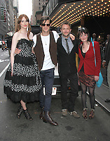 August 25, 2012 Karen Gillan, Matt Smith, Chris Hardwick, executive producer Caroline Skinner attend the US premiere  screening  of Doctor Who  at the Ziegfeld Theatre in New York City.Credit:&copy; RW/MediaPunch Inc. /NortePhoto.com<br />