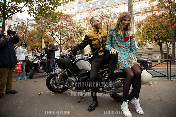 Unknown guests attend Miu Miu Show Front Row - Paris Fashion Week  2016.<br /> October 7, 2015 Paris, France<br /> Picture: Kristina Afanasyeva / Featureflash