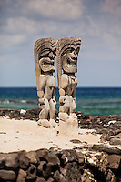 Ki'i (statues) in Pu'uhonua o Honaunau National Historical Park (City of Refuge), Big Island.