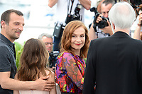 "22 May 2017 - Cannes, France - Mathieu Kassovitz, Isabelle Huppert. ""Happy End"" Photocall - 70th Annual Cannes Film Festival held at Palais des Festivals. Photo Credit: Jan Sauerwein/face to face/AdMedia"