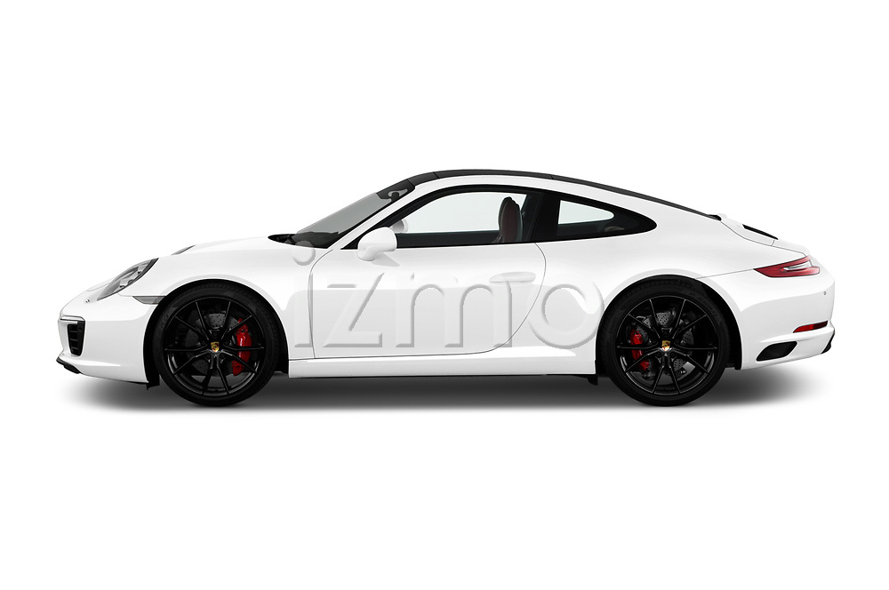 Car driver side profile view of a 2017 Porsche 911 Carrera S 2 Door Coupe