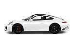 Car driver side profile view of a 2018 Porsche 911 Carrera S 2 Door Coupe