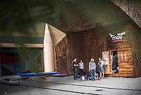 Kayaking Centre at Limehouse Basin, Tower Hamlets, London, England