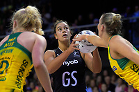 Maia Wilson shoots for goal during the Constellation Cup Series international netball match between the New Zealand Silver Ferns and Samsung Australian Diamonds at TSB Bank Arena in Wellington, New Zealand on Thursday, 18 October 2018. Photo: Dave Lintott / lintottphoto.co.nz
