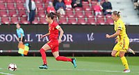 20191008 CLUJ NAPOCA: Belgium's Tessa Wullaert (9)  is pictured going for the goal with the ball in the foot, chased by the Romanian defender the match between Belgium Women's National Team and Romania Women's National Team as part of EURO 2021 Qualifiers on 8th of October 2019 at CFR Stadium, Cluj Napoca, Romania. PHOTO SPORTPIX | SEVIL OKTEM