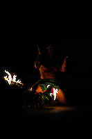 Male Hawaiian fire dancer. Hawaii