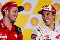 31st October 2019; Sepang Circuit, Sepang Malaysia; MotoGP Malaysia, Practice Day;  Marc Marquez, Andrea Dovizioso during the press conference - Editorial Use