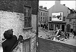Catholics fight with the Ulster police, Battle of the Bogside,  Londonderry, Northern Ireland, August 1969