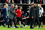 Manchester United manager Jose Mourinho celebrates with his son after the UEFA Europa League Final match at the Friends Arena, Stockholm. Picture date: May 24th, 2017.Picture credit should read: Matt McNulty/Sportimage