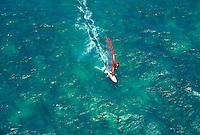 Bodyboarding off Honolua bay, island of Maui