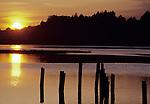 sunset at Bolinas Lagoon