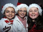 Ruby Levins, Sadie Farrell and Abbie Matthews pictured at the Clogherhead Christmas fair. Photo: Colin Bell/pressphotos.ie