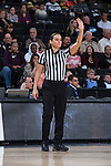 Referee Tiara Cruse works the ACC women's basketball game between the Georgia Tech Yellow Jackets and the Wake Forest Demon Deacons at the LJVM Coliseum on January 22, 2017 in Winston-Salem, North Carolina.  The Demon Deacons defeated the Yellow Jackets 70-65 in overtime.  (Brian Westerholt/Sports On Film)