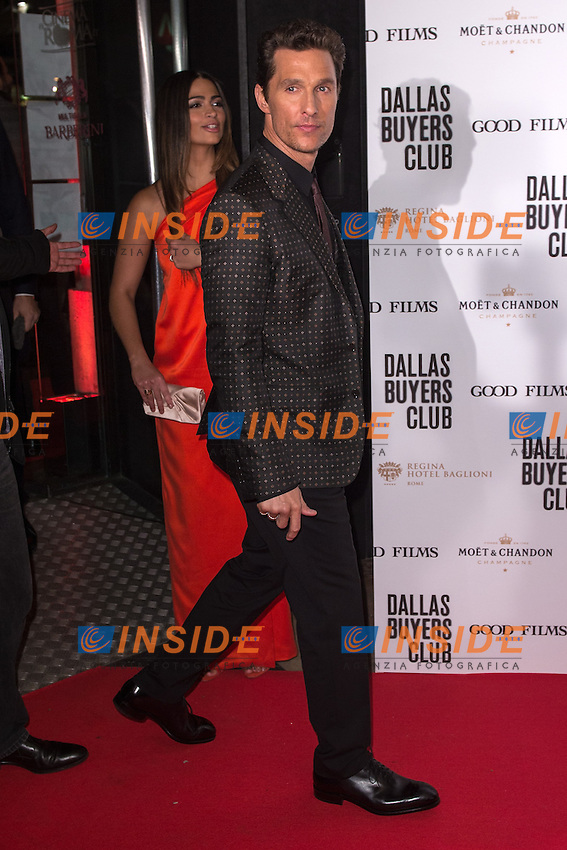 Camila Alves McConaughey, Matthew McConaughey <br /> Roma 27-01-2014 Cinema Barberini <br /> Dallas Buyers Club Premiere<br /> Foto Andrea Staccioli / Insidefoto