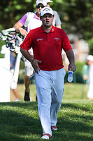 Bethesda, MD - July 1, 2017: Patrick Reed walks of the tee box during Round 3 of professional play at the Quicken Loans National Tournament at TPC Potomac in Bethesda, MD, July 1, 2017.  (Photo by Elliott Brown/Media Images International)