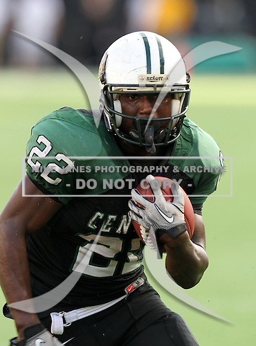 Miami Central Rockets running back Joseph Yearby #22 runs up field on a 5 yard touchdown during the fourth quarter of the Florida High School Athletic Association 6A Championship Game at Florida's Citrus Bowl on December 17, 2011 in Orlando, Florida.  Armwood defeated Miami Central 40-31.  (Photo By Mike Janes Photography)