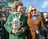 Peggy Steinman and owner Jackie Ohrstom enjoy the moment after the Colonial Cup.
