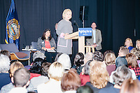Democratic presidential candidate and former First Lady and Secretary of State Hillary Rodham Clinton speaks at the Women's Economic Opportunity Summit at Southern New Hampshire University in Hooksett, New Hampshire.