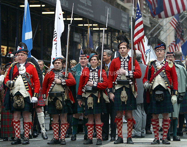 """Tartan Day"" parade in New York City. Two thousand bagpipers marched up 6th Avenue to celebrate Tartan Day during the Dewars Tunes of Glory Parade. New York, April 5, 2003. Please byline: Alecsey Boldeskul/NY Photo Press.   ..*PAY-PER-USE*      ....NY Photo Press:  ..phone (646) 267-6913;   ..e-mail: info@nyphotopress.com"