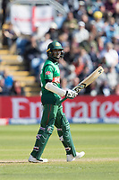 Shakib Al Hasan (Bangladesh) acknowledges his half century during England vs Bangladesh, ICC World Cup Cricket at Sophia Gardens Cardiff on 8th June 2019
