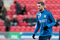 Preston North End's Tom Barkhuizen during the pre-match warm-up <br /> <br /> Photographer David Shipman/CameraSport<br /> <br /> The EFL Sky Bet Championship - Rotherham United v Preston North End - Tuesday 1st January 2019 - New York Stadium - Rotherham<br /> <br /> World Copyright © 2019 CameraSport. All rights reserved. 43 Linden Ave. Countesthorpe. Leicester. England. LE8 5PG - Tel: +44 (0) 116 277 4147 - admin@camerasport.com - www.camerasport.com