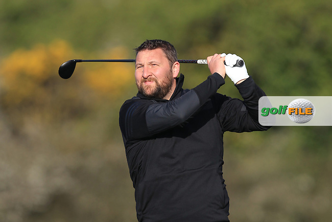 Sean Barry (Fota Island) on the 4th tee during Round 1 of the Munster Stroke Play Championship at Cork Golf Club on Saturday 30th April 2016.<br /> Picture:  Thos Caffrey / www.golffile.ie