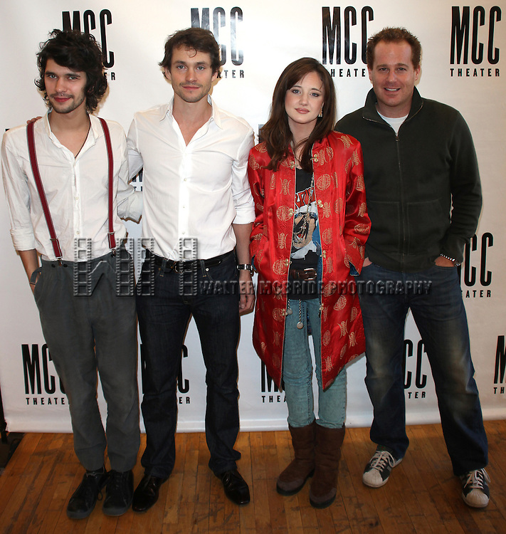 Ben Whishaw, Hugh Dancy, Andrea Riseborough &amp; Adam James<br /> attending the Meet The Press day for the MCC Theater's newest production &quot;THE PRIDE&quot; at the Manhattan Theater Club Rehearsal Studios in New York City.<br />  1/7/2010
