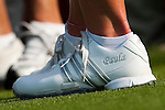 CHON BURI, THAILAND - FEBRUARY 18:  Paula Creamer's Adidas personalised shoes pictured during day two of the LPGA Thailand at Siam Country Club on February 18, 2011 in Chon Buri, Thailand. Photo by Victor Fraile / The Power of Sport Images