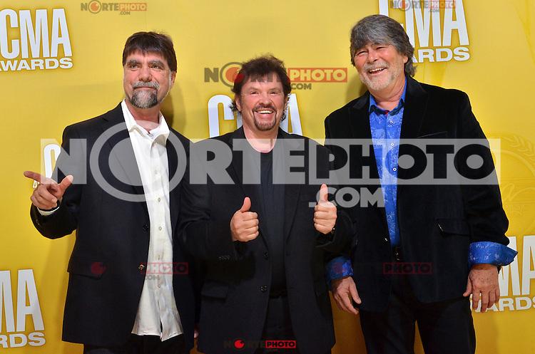NASHVILLE, TN - NOVEMBER 1: Alabama on the Macy's Red Carpet at the 46th Annual CMA Awards at the Bridgestone Arena in Nashville, TN on Nov. 1, 2012. © mpi99/MediaPunch Inc. /NortePhoto .<br /> ©NortePhoto