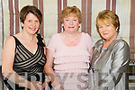 Pictured at the Enable Ireland Ladies Luncheon in the Earl of Desmond Hotel, Tralee on Friday, from left: Bridie O'Connor (Tralee), Margaret Crean (Tralee) and Ita Behan (Racecourse Lawn)..